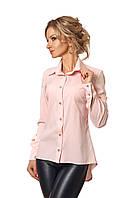 Рубашка с удлиненной спиной розовая