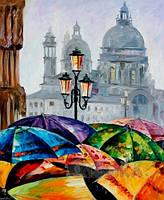 Картины по номерам/коробка. Яркие зонтики 40*50.