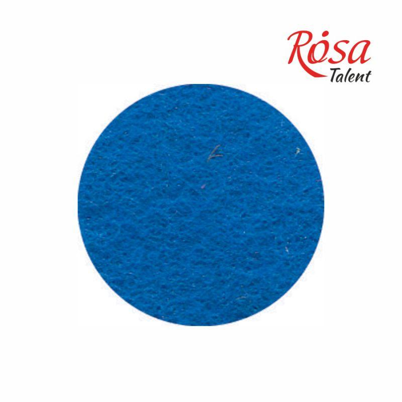 Фетр листовой (полиэстер) А3, 29,7*42 см, синий, 180 г/м2, ROSA Talent, А3-029, 003443