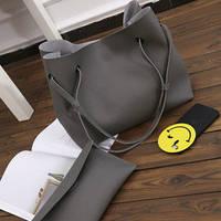 Женская темно-серая сумка