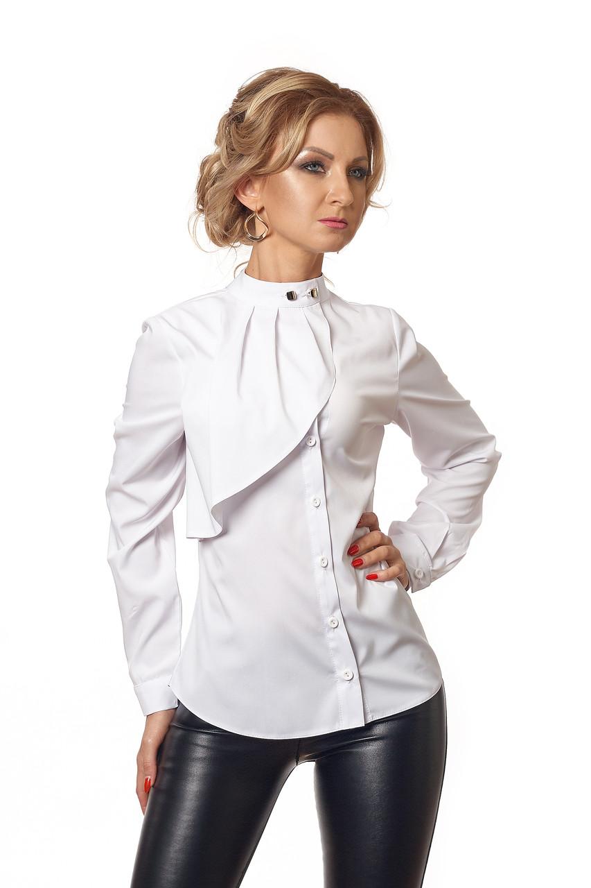 Блуза с жабо белая
