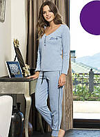 Женская пижама Shirly 21104, домашний костюм с брюками цена со склада