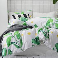 Постельное белье Свежесть листвы саржа 100% хлопок комплект евро кровать 2.0м