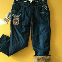 Теплые джинсовые штаны для мальчиков 110-116