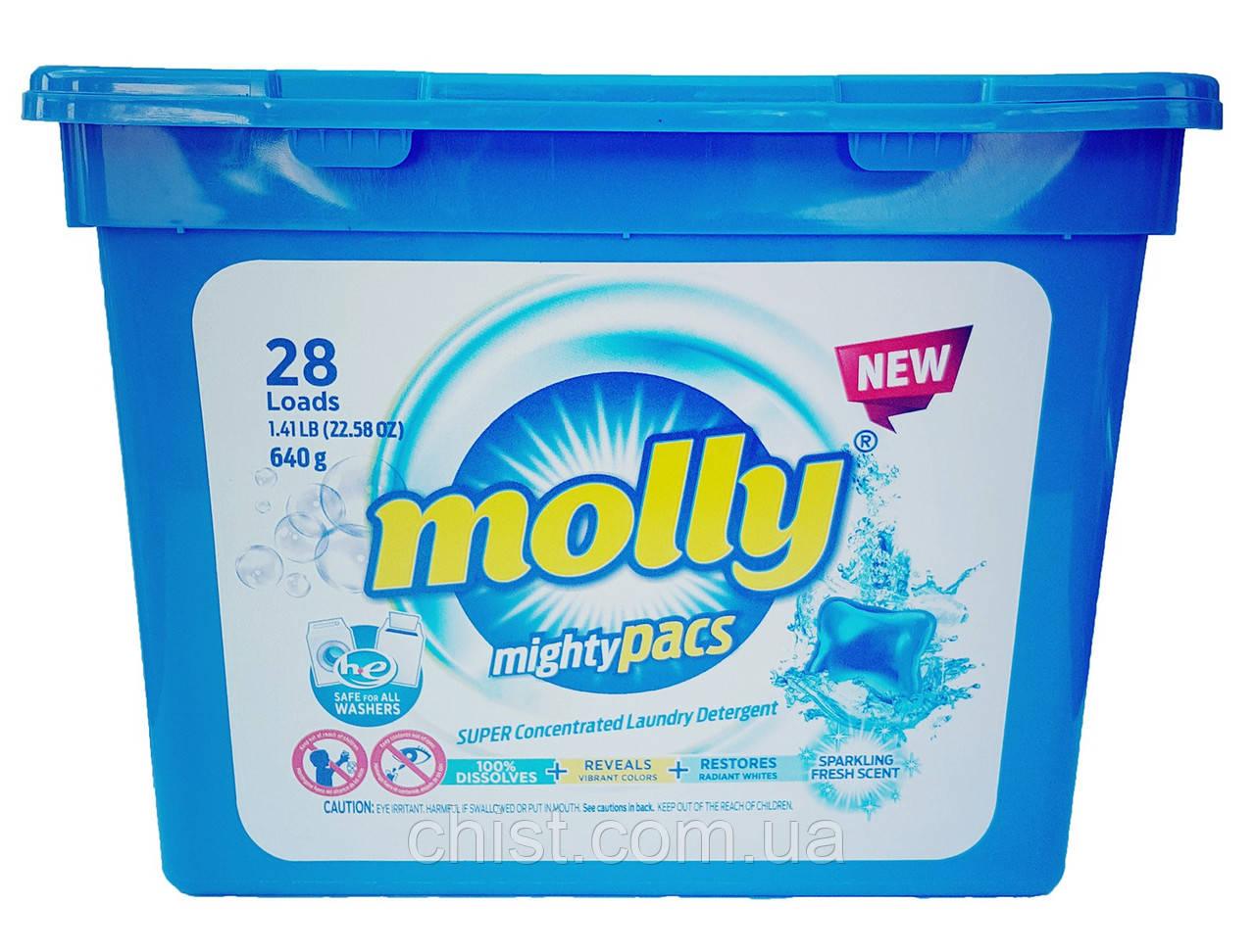 Molly капсулы для стирки однокомпонентные (28 шт) Венгрия