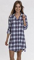 Хлопковая Фланелевая женская ночная сорочка Key LND 417 B7