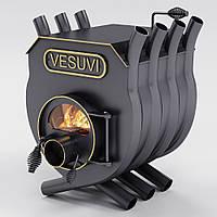 """Булерьян канадская печь VESUVI с варочной поверхностью """"01"""" 250 м3 (стекло или защитный декор кожух)"""
