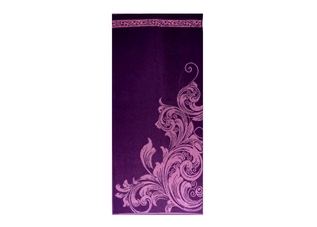 Полотенце махровое 67*150 ВЕНЗЕЛЬ  фиолетовый100% хлопка, арт. ВЕНЗЕЛЬ (шт.)