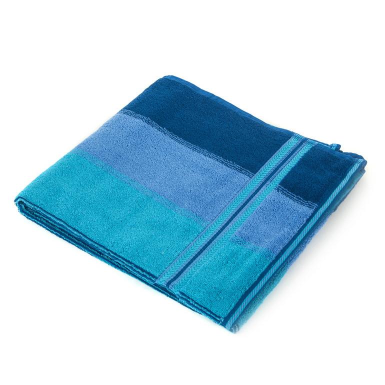 Рушник махровий 68*140 ХВИЛЯ синій 100% бавовни, арт. ХВИЛЯ (шт)
