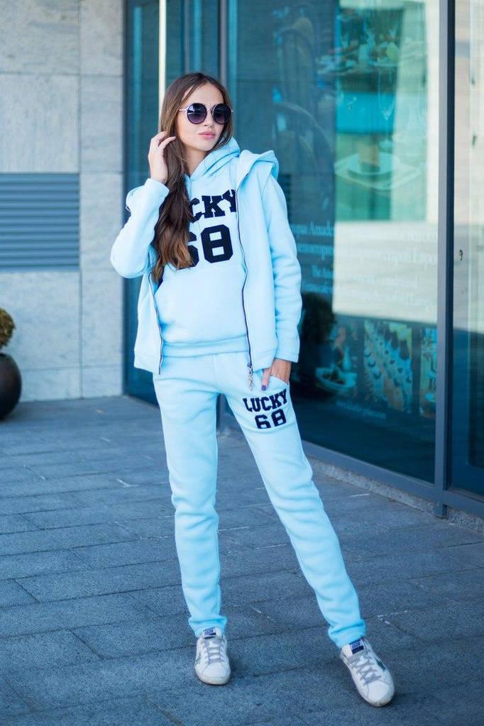 Тёплый спортивный костюм тройка - брюки, кофта, жилет. , купить в ... dec0f0af50f