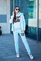 Тёплый спортивный костюм тройка - брюки, кофта, жилет.