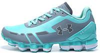 Женские спортивные кроссовки Under Armour Scorpio Blue Grey (Андер Армор Скорпио) голубые/серые