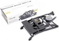 Помпа ножна двохциліндрова Solar 55ммx120мм, з манометром ,додатковими адаптерами та ресивером FT212 Насос