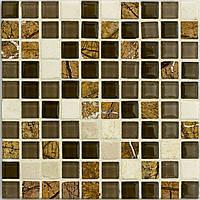 Мраморная мозаика 15х15х4 мм микс D306