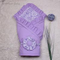 """Демисезонный конверт одеяло """"Богемия Премиум"""" (фиолетовый)"""
