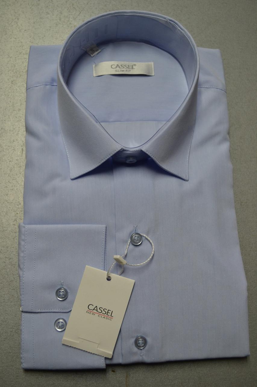 Мужская рубашка приталенная CASSEL  (размер S)