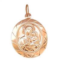 Золотая подвеска-иконка  Божьей Матери