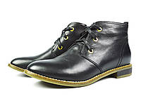 Черные женские осенние кожаные ботинки Lonza  для повседневной носки
