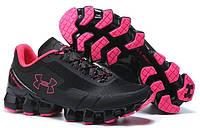 Женские спортивные кроссовки Under Armour Scorpio Black Pink (Андер Армор Скорпио) черные/розовые