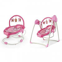 Кресло-качели 2 в 1 Milly Mally Sweet Dreams Pink Dreams_002