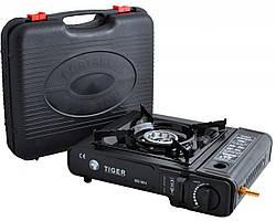 Портативная газовая плита TIGER BSZ-188-A двойного действия с адаптером в кейсе