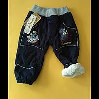 Теплые джинсовые штаны для мальчиков 68-74