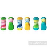 Носочки детские хлопковые, антискользящие 3 пары