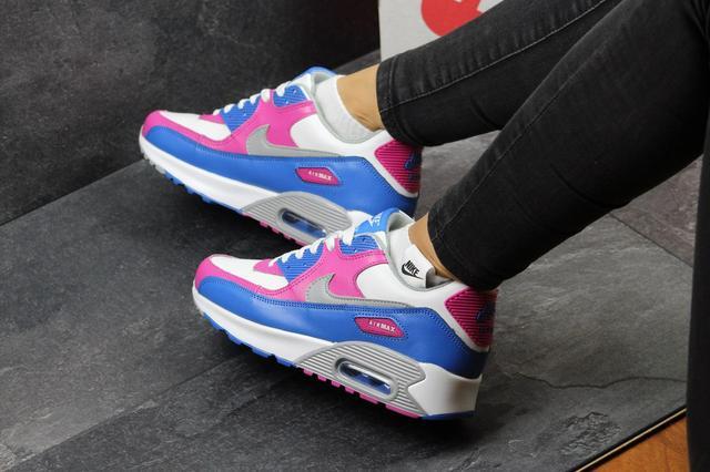 Жіночі кросівки Nike Air Max -білі з малиновим 8b1c575bb076e