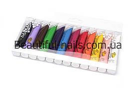 Акриловые краски для дизайна ногтей QUMAXI, 12 шт