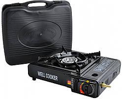 Портативная газовая плита двойного действия WELL COOKER №66-3 с адаптером в кейсе