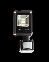 Светодиодный прожектор SMD 10 ватт с датчиком движения