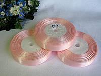 Атласная лента 1.2 см цвет - нежно розовый (04)  бобина 23 м
