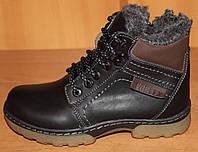 Ботинки зимние для подростка шнурки змейка, обувь детская от производителя модель ВА50П
