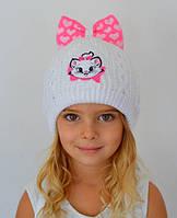 Белая шапка для девочки от 1 года зимняя , фото 1