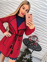Женский кардиган винно-красного цвета