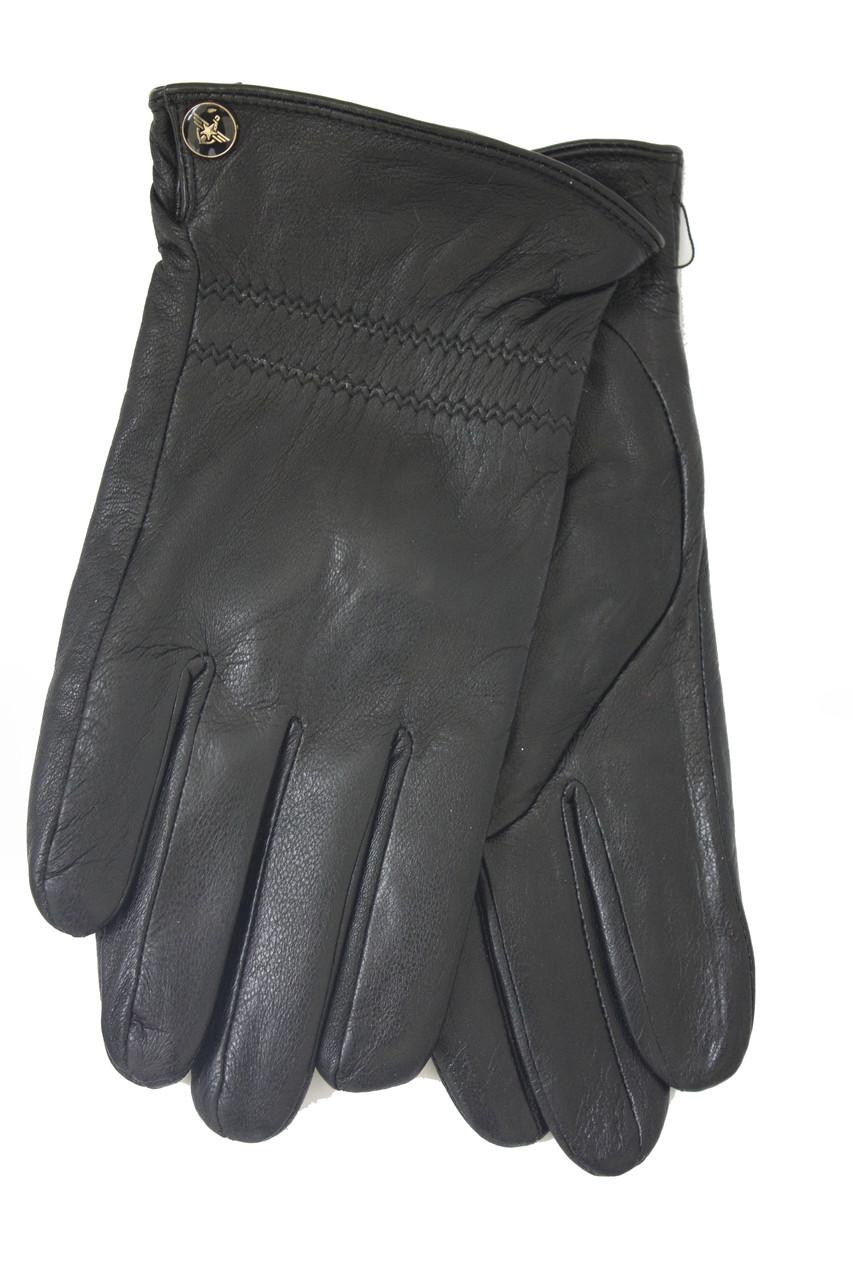 Мужские зимние кожаные перчатки M 2018