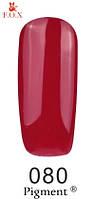 Гель лак FOX №080 (красно-малиновая эмаль) 6 мл