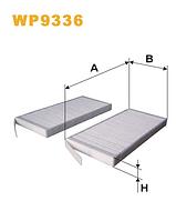 Фильтр салонный WIX WP9336 (K1248-2X)