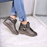 Ботинки женские Sneek бронза 3657, ботинки женские