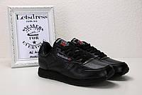 Reebok Classic Оригинал Leather Black мужские кроссовки