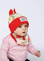 Набор для девочки(шапка+манишка) арт. Мюзикл