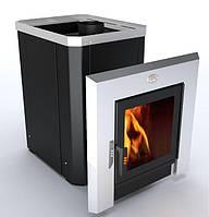 Печь-каменка «Визуал» ПКС-02-В (модель С3) дверца с термостойким стеклом 310х310 мм