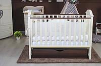 Кроватка для новорожденных Twins iLove маятник/ящик, слон кость/орех (7363)