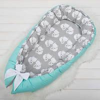 Гнездышко - позиционер для малыша.  Отличное решение для сна ребенка. Нежно защитит малыша от твердых огражден