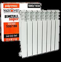 500/100 Биметаллический радиатор 8 секций TEPLOVER SUPER
