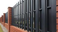 Забор штакетный ДВУХ- сторонний металлический 2,0 х 0,5м. стандарт, 2-ст. зашивка