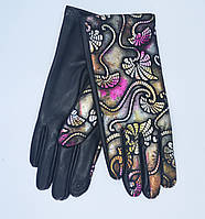 Женские перчатки эко-кожа на флисовой подкладке