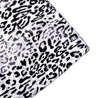 Платок шелковый Белый леопард