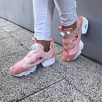 Reebok Insta Pump Pink кроссовки подростковые розовые
