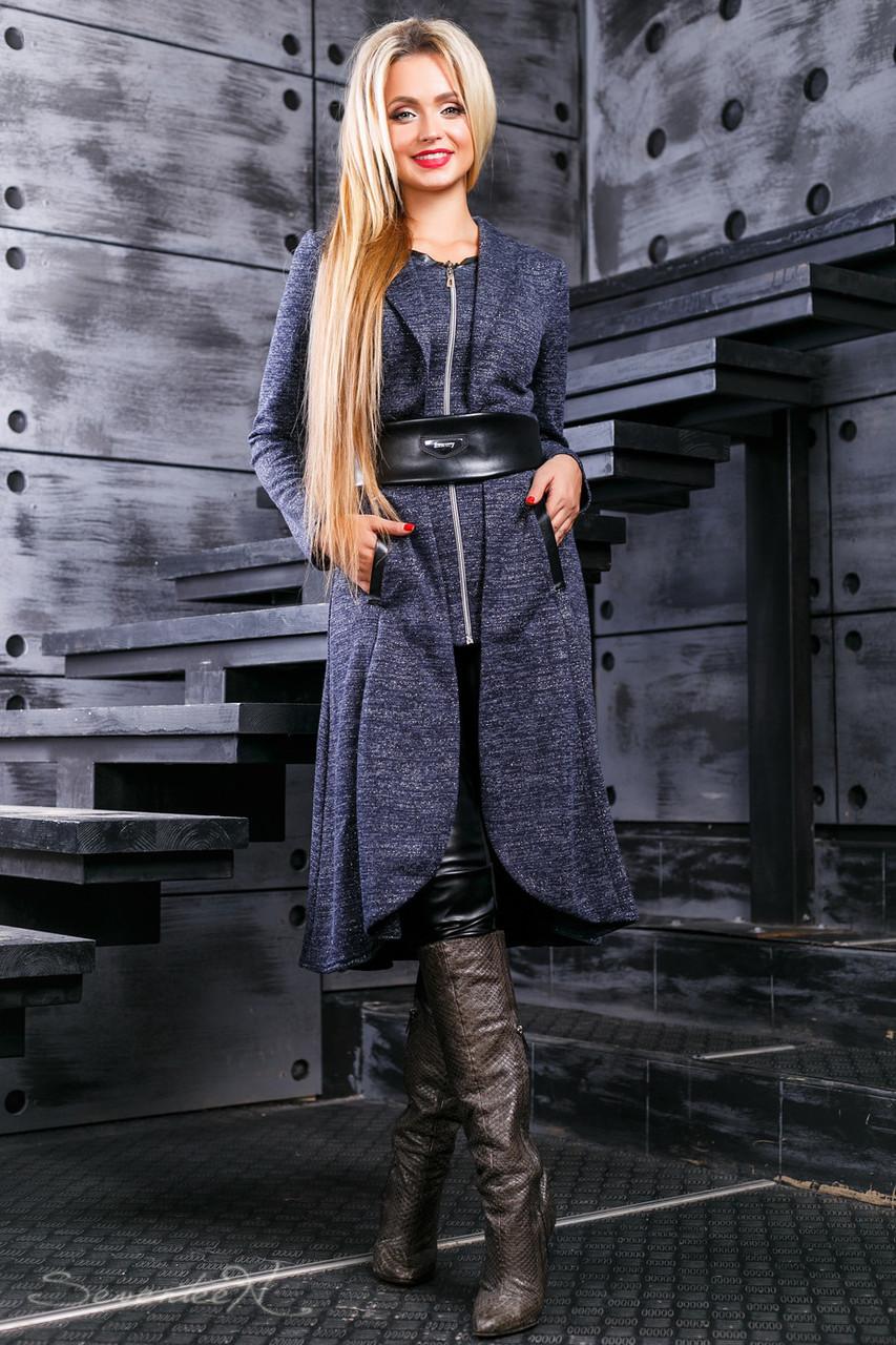 Красивый женский  кардиган 2393 темно-серый